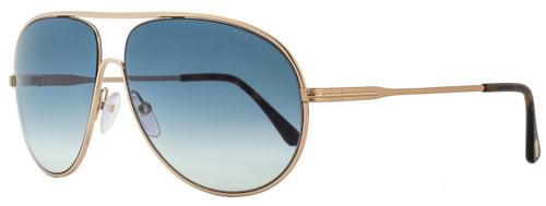 Tom Ford Aviator Sunglasses TF450 Cliff 28P Rose Gold/Havana FT0450