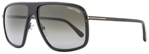 Tom Ford Square Sunglasses TF463 Quentin 01B Black FT0463