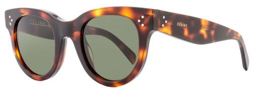 Celine Oval Sunglasses CL41053S 05D1E Havana 41053