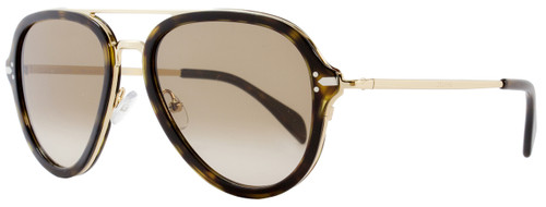 Celine Aviator Sunglasses CL41374S ANT9J Dark Havana/Gold 41374