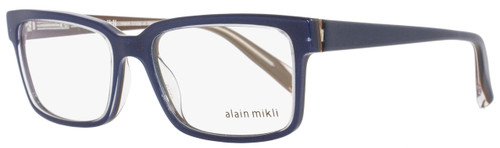 Alain Mikli Rectangular Eyeglasses A03033 M0JV Size: 53mm Navy Blue/Clear 3033