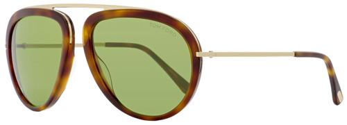 Tom Ford Aviator Sunglasses TF452 Stacy 56N Havana/Rose Gold FT0452