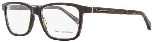 Ermenegildo Zegna Rectangular Eyeglasses EZ5012 052 Size: 54mm Havana/Venghe Wood 5012