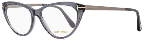 Tom Ford Cateye Eyeglasses TF5354  020 Size: 53mm Transparent Gray/Ruthenium FT5354
