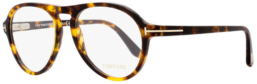 Tom Ford Aviator Eyeglasses TF5413 052 Size: 53mm Vintage Havana/Gold FT5413