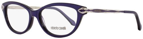 Roberto Cavalli Cateye Eyeglasses RC813 Alkalurops 080 Size: 52mm Dark Lavender/Palladium 813