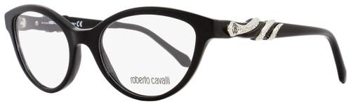 Roberto Cavalli Cateye Eyeglasses RC843 Asterope 001 Size: 52mm Black/Palladium 843