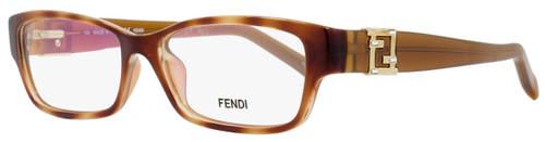 Fendi Rectangular Eyeglasses F1015R 725 Size: 52mm Light Havana 1015