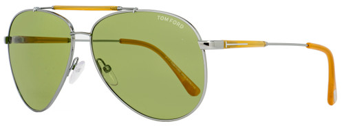 Tom Ford Aviator Sunglasses TF378 Rick 14N Size: 62mm Ruthenium/Opal Honey FT0378