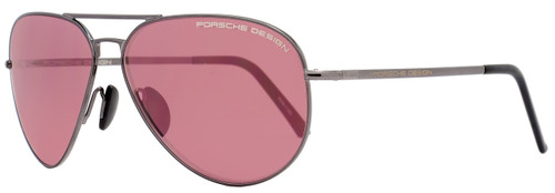 Porsche Design Aviator Sunglasses P8508 J Shiny Gunmetal 8508
