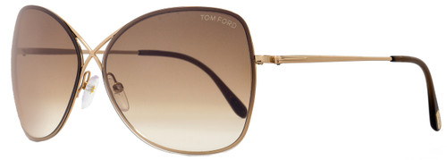 Tom Ford Butterfly Sunglasses TF250 Colette 28F Rose Gold FT0250