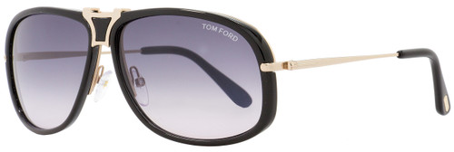 Tom Ford Rectangular Sunglasses TF286 Robbie 01B Black/Rose Gold FT0286