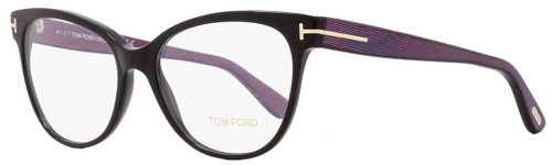 Tom Ford Cateye Eyeglasses TF5291 005 Size: 55mm Black/Iridescent Chalkstripe FT5291