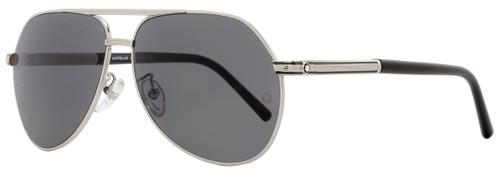 Montblanc Aviator Sunglasses MB504T 16A Shiny Palladium/Black 504