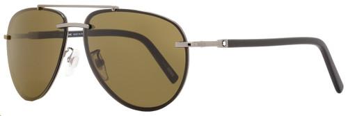 Montblanc Aviator Sunglasses MB596F 08J Gunmetal/Matte Black 596