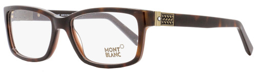 Montblanc Rectangular Eyeglasses MB443 056 Size: 57mm Havana/Bronze 443