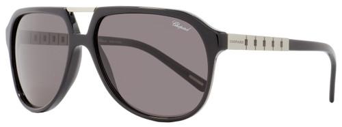 Chopard Square Sunglasses SCH179 700P Black/Brushed Ruthenium Polarized 179