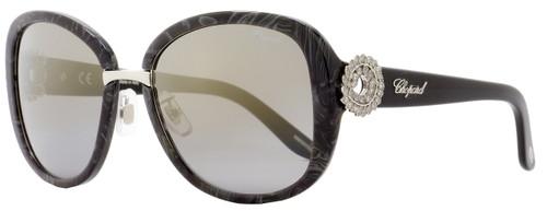 Chopard Oval Sunglasses SCH186S 869G Dark Gray Melange 186