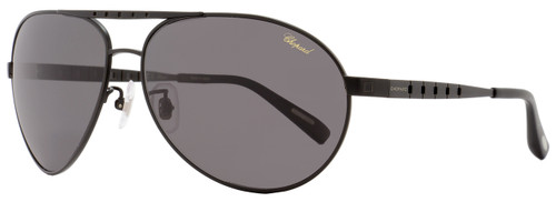 Chopard Aviator Sunglasses SCHB01 531P Semi-Matte Black Polarized B01