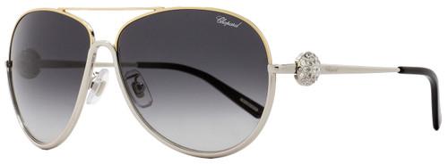 Chopard Aviator Sunglasses SCHB23S 0377 Palladium/Gold/Black B23