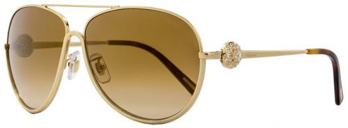 Chopard Aviator Sunglasses SCHB23S 300G Rose Gold/Black B23