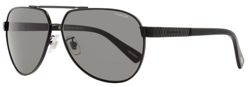 Chopard Aviator Sunglasses SCHB28 531P Matte Black Polarized B28