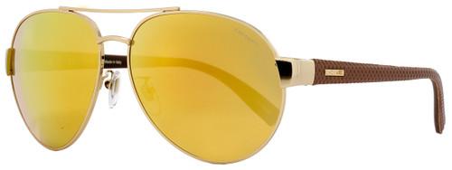 Chopard Aviator Sunglasses SCHB35V 300G Rose Gold/Brown B35