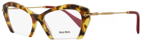 Miu Miu Cateye Eyeglasses VMU03O UA5-1O1 Size: 53mm Havana/Gold/Magenta 03OV