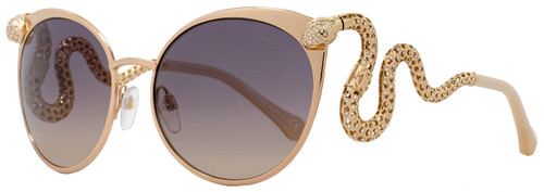 Roberto Cavalli Cateye Sunglasses RC890S Menkalinan 28F Rose Gold/Beige 890