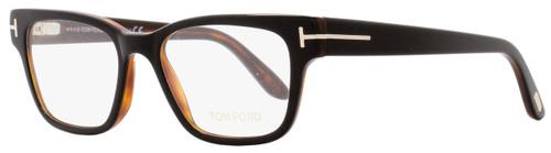 Tom Ford Rectangular Eyeglasses TF5288 005 Size: 49mm Black/Havana/Gold FT5288