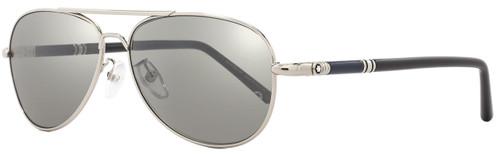 Montblanc Aviator Sunglasses MB509T 16C Palladium/Blue/Black 509