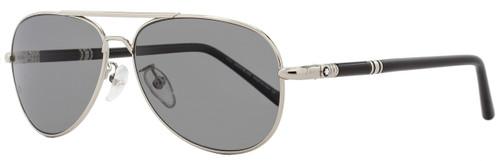 Montblanc Aviator Sunglasses MB509T 16D Palladium/Black Polarized 509