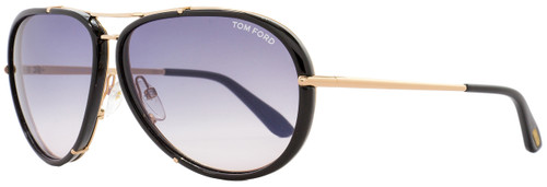 Tom Ford Aviator Sunglasses TF109 Cyrille 28W Rose Gold/Black FT0109