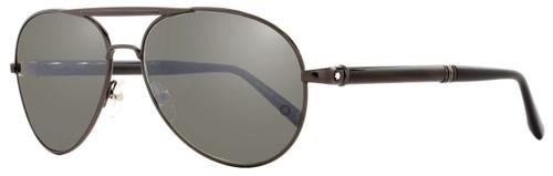 Montblanc Aviator Sunglasses MB458S 08C Dark Gunmetal/Horn 458