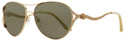 Roberto Cavalli Oval Sunglasses RC886S Megrez 28G Rose Gold/Ivory 886