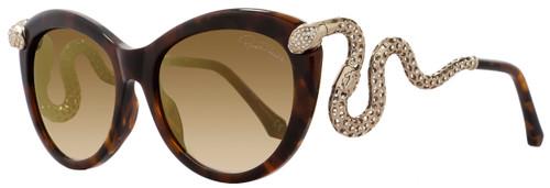 Roberto Cavalli Cateye Sunglasses RC889S Menkab 50F Dark Havana/Bronze 889