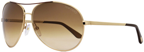 Tom Ford Aviator Sunglasses TF35 Charles 772 Gold/Brown FT0035