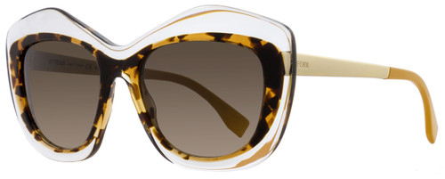 Fendi Butterfly Sunglasses FF0029S 7NQHA Crystal/Havana/Gold 29