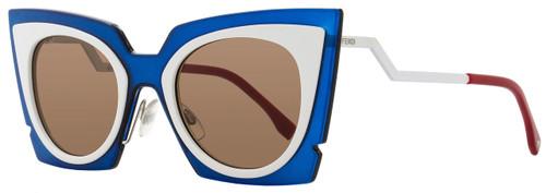 Fendi Cateye Sunglasses FF0117S IC4UT Turquoise/White 117