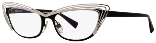 Alain Mikli Cateye Eyeglasses A01291 M0CD Size: 53mm Black/Palladium 1291