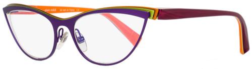 Alain Mikli Cateye Eyeglasses A02003 M0JH Size: 56mm Purple/Green/Orange 2003