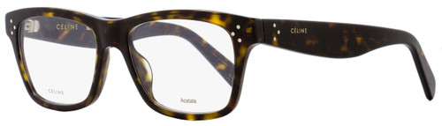 Celine Rectangular Eyeglasses CL41418 086 Size: 52mm Dark Havana 41418