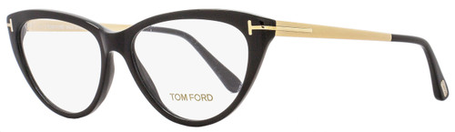 Tom Ford Cateye Eyeglasses TF5354  001 Size: 53mm Black/Gold FT5354
