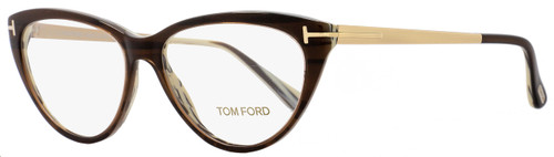 Tom Ford Cateye Eyeglasses TF5354  050 Size: 53mm Brown/Horn/Gold FT5354