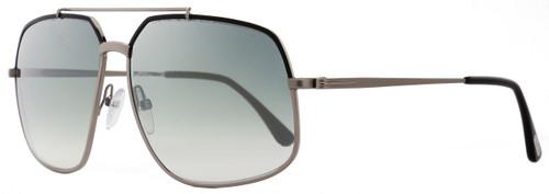Tom Ford Aviator Sunglasses TF439 Ronnie 01Q Gunmetal/Black FT0439