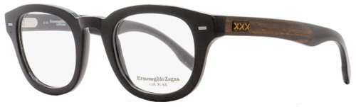 Ermenegildo Zegna Couture Oval Eyeglasses ZC5005 001 Size: 47mm Black/Ebony/Horn 5005