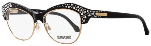 Roberto Cavalli Butterfly Eyeglasses RC930 Phecda 001 Size: 53mm Black/Gold 930