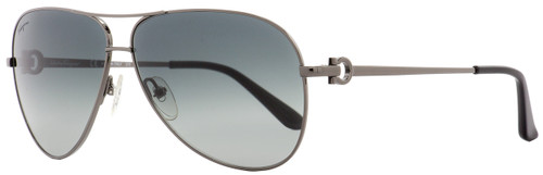 Salvatore Ferragamo Aviator Sunglasses SF109S 033 Dark Gunmetal/Black 109