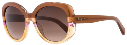 Salvatore Ferragamo Oval Sunglasses SF793S 225 Rust/Peach 793