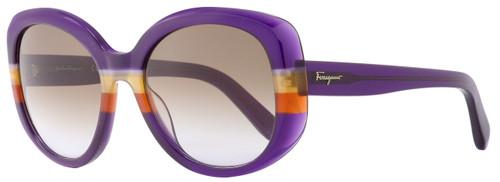 Salvatore Ferragamo Oval Sunglasses SF793S 506 Violet/Orange 793